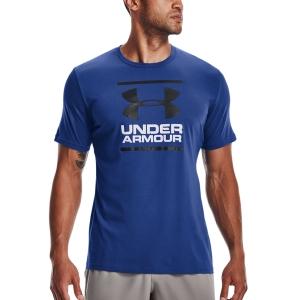 Camisetas de Tenis Hombre Under Armour Foundation Camiseta  Tech Blue/Black 13268490432