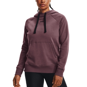 Women's Tennis Shirts and Hoodies Under Armour Rival Classic Hoodie  Ash Plum/Black 13563170554