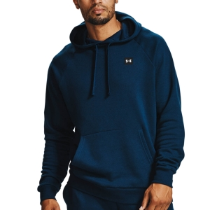 Men's Tennis Shirts and Hoodies Under Armour Rival Fleece Hoodie  Academy/Onyx White 13570920408