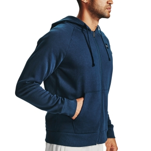 Men's Tennis Shirts and Hoodies Under Armour Rival Fleece Hoodie  Academy/Onyx White 13571110408