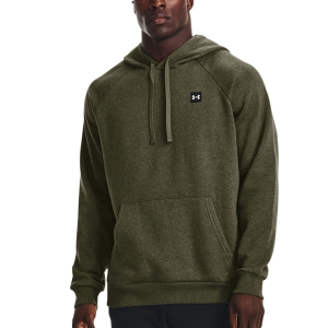 Men's Tennis Shirts and Hoodies Under Armour Rival Fleece Hoodie  Marine Od Green/Light Heather/Onyx White 13570920390