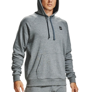 Men's Tennis Shirts and Hoodies Under Armour Rival Fleece Hoodie  Pitch Gray Light Heather/Onyx White 13570920012