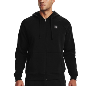 Men's Tennis Shirts and Hoodies Under Armour Rival Fleece Hoodie  Black/Onyx White 13571110001