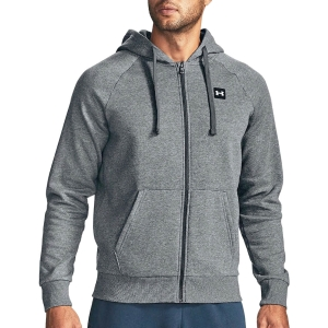 Men's Tennis Shirts and Hoodies Under Armour Rival Fleece Hoodie  Pitch Gray Light Heather/Onyx White 13571110012