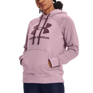 Maglie e Felpe Tennis Donna Under Armour Rival Logo Felpa  Mauve Pink/Ash Plum 13563180698