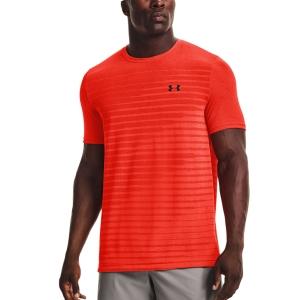 Men's Tennis Shirts Under Armour Seamless Fade TShirt  Phoenix Fire/Black 13611330296