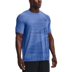 Men's Tennis Shirts Under Armour Seamless Fade TShirt  Tech Blue/Black 13611330432