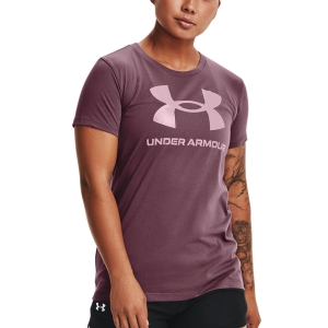 Camisetas y Polos de Tenis Mujer Under Armour Sportstyle Graphic Camiseta  Ash Plum 13563050554