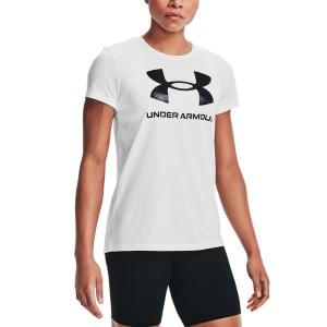 Camisetas y Polos de Tenis Mujer Under Armour Sportstyle Graphic Camiseta  White/Black 13563050102
