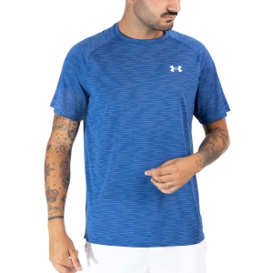 Men's Tennis Shirts Under Armour Tech 2.0 Gradient TShirt  Tech Blue/White 13661400432