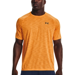 Men's Tennis Shirts Under Armour Tech 2.0 Gradient TShirt  Omega Orange/Black 13661400857