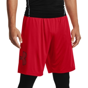 Men's Tennis Shorts Under Armour Tech Graphic 10in Shorts  Red/Black 13064430601