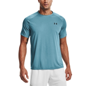 Men's Tennis Shirts Under Armour Tech 2.0 Novelty TShirt  Cosmos/Black 13453170476