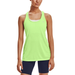 Top de Tenis Mujer Under Armour Tech Twist Top  Summer Lime/Metallic Silver 12754870162