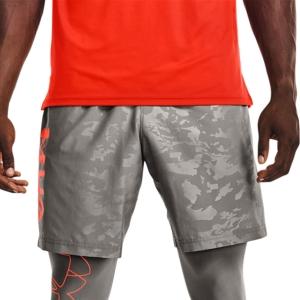 Men's Tennis Shorts Under Armour Woven Emboss 8in Shorts  Concrete/Phoenix Fire 13614320066