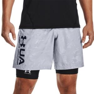 Men's Tennis Shorts Under Armour Woven Emboss 8in Shorts  Mod Gray/Black 13614320011