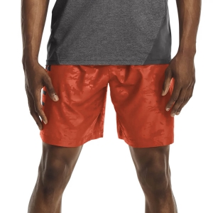 Pantalones Cortos Tenis Hombre Under Armour Woven Emboss 8in Shorts  Radiant Red/Black 13614320839