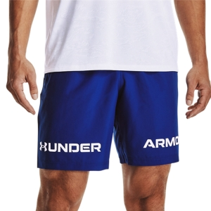 Men's Tennis Shorts Under Armour Woven Graphic 8in Shorts  Royal/White 13614330400
