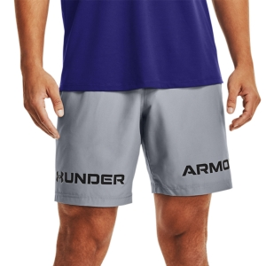 Men's Tennis Shorts Under Armour Woven Graphic 8in Shorts  Steel/Black 13614330035