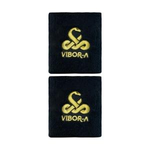 Tennis Wristbands ViborA Logo Small Wristbands  Nero 0013709