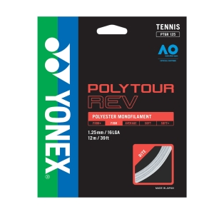 Monofilament String Yonex PolyTour Rev 1.25 Set 12 m  White PTGR125WH