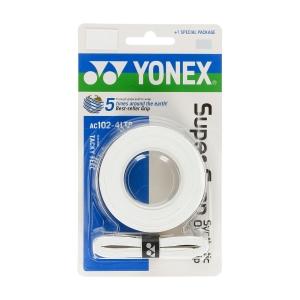 Sobregrip Yonex Super Grap Overgrip x 4 LTD  White AC102EX4LTDB