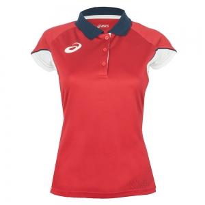 Ropa Asics Mujer Asics Ace Polo  Red/White T266Z7.2601