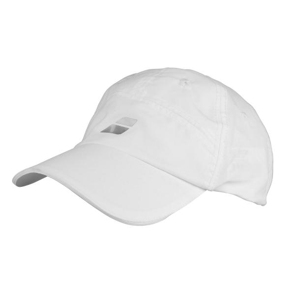 7c35af77b1f Babolat Microfiber Tennis Cap - White