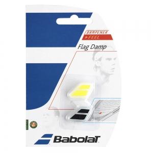 Vibration Dampener Babolat Flag x 2 Dampeners  Black/Yellow 700032142