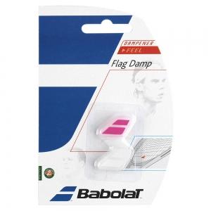 Vibration Dampener Babolat Flag x 2 Dampeners  White/Pink 700032184