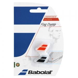Vibration Dampener Babolat Flag x 2 Dampeners  Black/Red 700032189