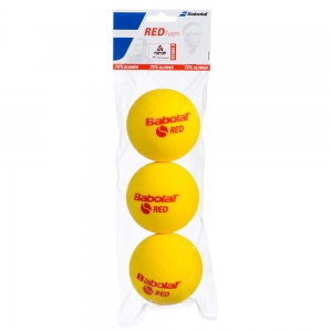 Palline Tennis Babolat Babolat Red Foam Pack x 3 501037