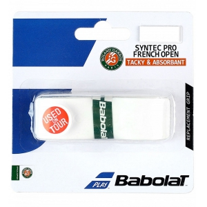 Replacement Grip Babolat Syntec Pro French Open Grip  White 670052101