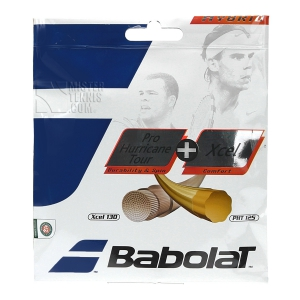Hybrid String Babolat Hybrid PH Tour 1.25 + Xcel 1.30 12 m Set  Yellow/Natural 281032
