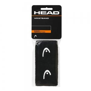 Tennis Head and Wristbands Head 2.5in Wristband  Black 285075 BK