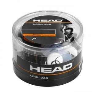 Vibration Dampener Head Logo Jar x 70 Box Dampeners  Black/White 285824