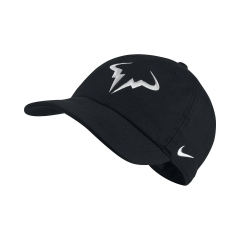 Tennis Hats and Visors Nike Court Rafa Aerobill H86 Cap  Black/White 850666010