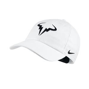 Tennis Hats and Visors Nike Court Rafa Aerobill H86 Cap  White/Black 850666101