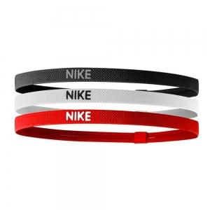 Tennis Head and Wristbands Nike Elastic Hairband x 3  Black/White/Red N.JN.04.945.OS