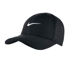 Tennis Hats and Visors Nike Featherlight Cap  Black/White 679421010