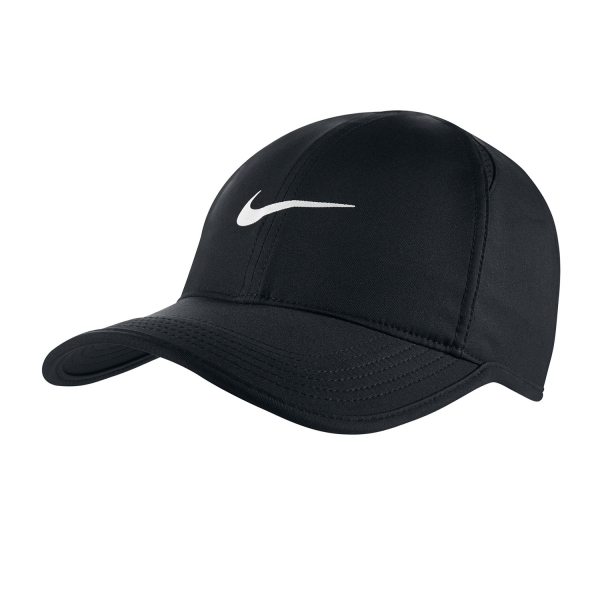 01b8236c93 Nike Featherlight Tennis Cap - Black White