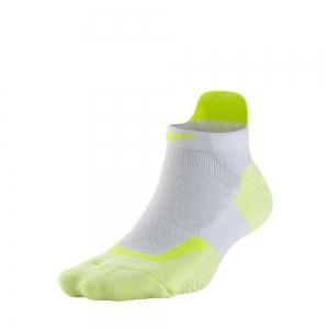 Tennis Socks Nike Elite Tennis No Show Socks  White/Volt SX4987177