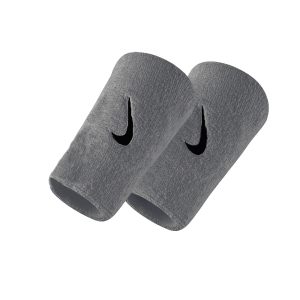 Tennis Head and Wristbands Nike DoubleWide Swoosh Wristband  Silver/Black N.NN.05.078.OS