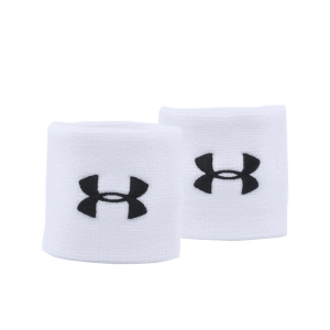 Tennis Head and Wristbands Under Armour Performance Wristbands  White 1276991100