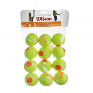 Wilson Tennis Balls Wilson Starter Game Ball (Stage 2)  12 Balls WRT137200