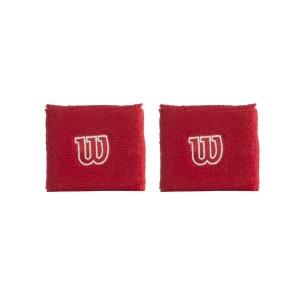 Tennis Wristbands Wilson Logo Wristband  Red WR5602900
