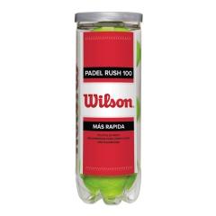 Padel Balls Wilson Padel Rush 100  3 Balls Tube WRT136500