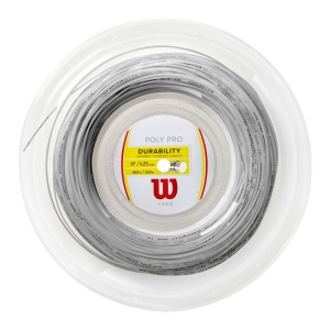 Polyester String Wilson Poly Pro 1.25 200 m Reel  Silver WRZ904700