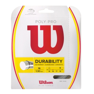 Polyester String Wilson Poly Pro 1.30 12 m Set  Silver WRZ921900