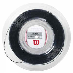 Synthetic Gut String Wilson Synthetic Gut Power 1.30 200 m Reel  Black WRZ905200